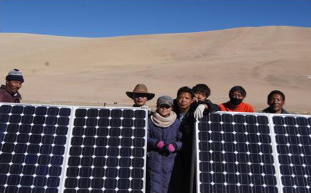 Tibet global photovoltaic power generation project in -2011